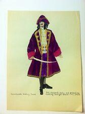 1924 Original Painting 17th Century French Muskateer/pirate