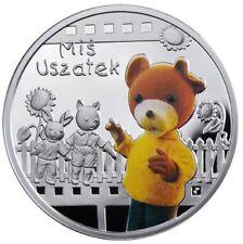 2010 Niue Proof Color Silver $1 Cartoon Characters Teddy Bear