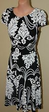 Womens Black and White Paisley Print Dress BNWT - Events - Size XS
