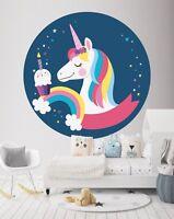 3D Kuchen Einhorn 849 Tapeten Wandbilder Fußboden Wand-Druck Wandaufkleber DE