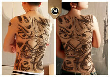 Cool Full Big Back Neck Large Temporary Tattoo Stickers Waterproof Flash Tattoos