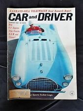 Car & Driver Jan 1962 - Karmann-Ghia Volkswagen - Alfa Romeo Sprint - Phil Hill