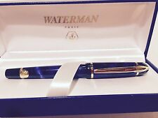 Waterman Phileas Fountain Pen Mineral Blue Medium Point  Collectible