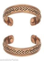 "SIngle Solid Copper Magnetic Cuff Bracelet w/ ""Therapy"" Magnets ~ Wide band 17mm"