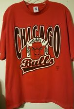 Vintage Circa 1983 CHICAGO PRE-OWNED BULLS Logo 7 Size XL Red T-Shirt