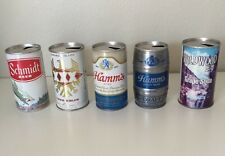 LOT OF 4 VINTAGE BEER CANS PULL TAB EMPTY SCHIMDT HAMMS TRES EQUIS