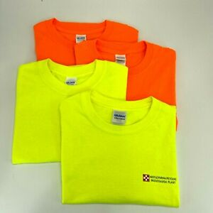 NEW LOT OF 4 SAFETY GREEN AND ORANGE T-SHIRT - HIGH VISIBILITY