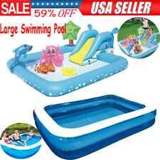 Inflatable Swimming Pool Large Family Summer Outdoor Play Pool Kids Children Us