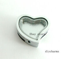 1pc 18mm Plain Heart Slide Memory Living Locket DIY Wristband Floating Charms