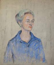 Ölbild,Portrait,Frau,Monogrammiert,dat 1969