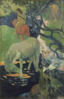Paul Gauguin The White Horse Giclee Art Paper Print Poster Reproduction