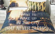 NEW YORK King Size Duvet Cover Bedding Set