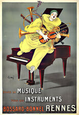L'ARTE Annuncio bossard peebucks Rennes musicali degli strumenti VIOLINO PIANOFORTE Deco Poster stampati