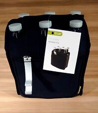 *(10 Pack)*True Six Pack Insulated Beverage Tote With Bottle Opener, Black New