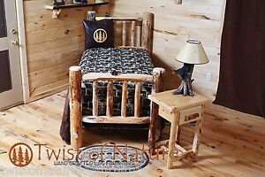 LAKESIDE EDITION RUSTIC LOG BED   -USA Handcrafted - ON SALE NOW!!  FREE SHIP!