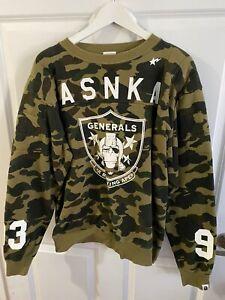 Bape Green Camo ASNKA 93 Generals Busy Works Crewneck Vintage OG