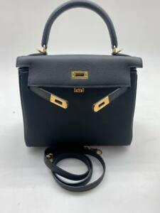 HERMES Paris Kelly 35 Depeche Briefcase Handbag Leather