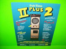 Merit PUB TIME Plus II Original 1990 Coin-Op Darts Arcade Game Promo Sales Flyer