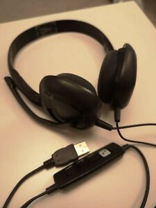 Plantronics Audio 628USB Black PC USB Stereo Wired Noise Cancel Mic Headset