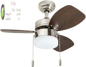 "Honeywell Ceiling Fans 50601-01 Ocean Breeze Contemporary, 30"" Led Frosted, Li"