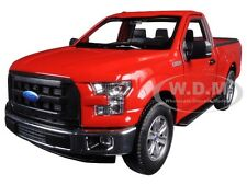2015 FORD F-150 PICKUP TRUCK REGULAR CAB RED 1/24 DIECAST MODEL BY WELLY 24063