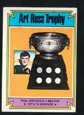 1973 - 1974 Topps Hockey Set PHIL ESPOSITO ART ROSS TROPHY Card