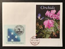 MICRONESIA ORCHIDS FDC 2002 ORCHIDS FIRST DAY COVER FLOWERS FLORA NATURE