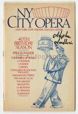 "Stephen Sondheim - Autographed ""NY City Opera"" Playbill, 1984"