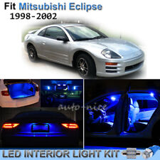 8pcs Pure Blue Interior LED Lights Package Kit For 1998-2002 Mitsubishi Eclipse
