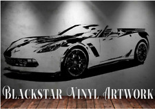 "2018 CHEVROLET CORVETTE Z06 LARGE DECAL WALL ART 23"" X 55"""""