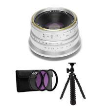 7artisans Photoelectric 25mm f/1.8 Lens for Fujifilm X (Silver) Bundle