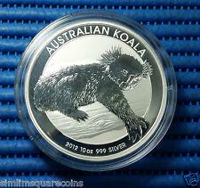 2012 Australia $10 Koala 10 oz 999 Fine Silver Coin