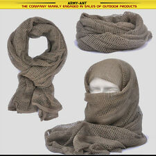 Khaki/TAN Tactical Cotton Mesh Scarf Wrap Face Cover Mask Shemagh Sniper Veil