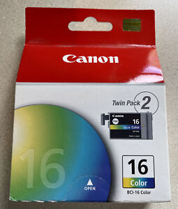 NEW Canon BCI-16 Twin Pack Color Ink Cartridges Genuine
