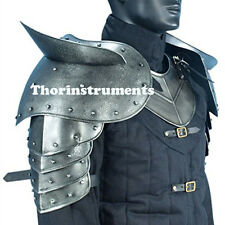 MEDIEVAL GOTHIC DARK Metallic Warrior Pauldrons  with Sword One Size Armour