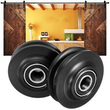 4Pcs POM Sliding Barn Wooden Door Wheel Hardware Track Roller Window Pulley
