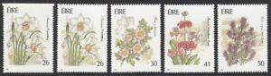 Ireland, 1990 Garden Flowers Set + PERF x IMPERF. SG 781-4 Unmounted Mint MNH