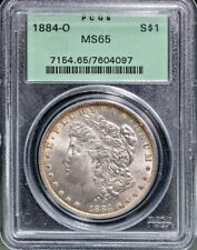 1884-O Morgan Dollar - MS-63 PCGS BGH Undergraded Nice Rim Toning Free S/H $2042