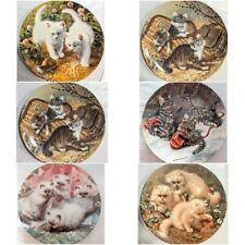 Set of 6 Edwin M. Knowles Cat Tales Collector Plates