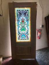 Beautiful Stained Glass Estate Entry Door With Safety Glass - Jhl2147-78