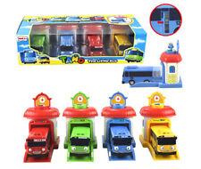 2018  4PCS/SET The Little Bus Tayo Rogi Rani Shooting Cars & Garage Toy Mini set