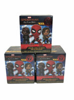 Lot Of 3 Funko Mystery Mini Marvel Spider-Man Far From Home Bobble Head Mystery