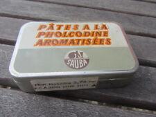 ancienne boite pastilles SAUBA , pharmacie pastilles gorge