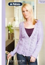 Patons DK Knitting Pattern for Lace Cardigan - 3496