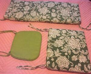 3-Piece Wicker Cushion Set Green Outdoor Garden Patio Loveseat Chairs Porch FS