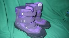 New Clarks Girls Snow Girl Purple Synthetic Snow Boots size UK 4-F