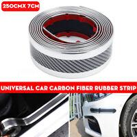 7CMx2.5M Auto Carbonio Fibra Gomma Protezione Striscia Adesivo Battitacco Orlo