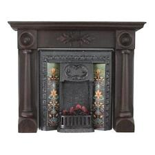 Dolls House Mahogany 'The Regency' Victorian Complete Fireplace (02241)