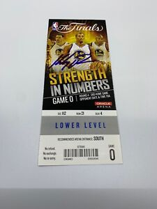 Klay Thompson autographed 2015 NBA Finals Ticket Fanatics GS Warriors Beckett