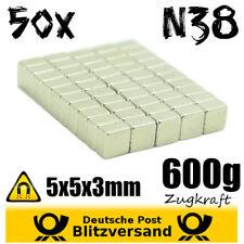 50x Neodym Magnet Quader 5x5x3mm - Whiteboard Magnete Magnetic Magneten basteln